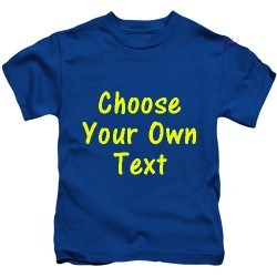 Personalised Text Kids T Shirt