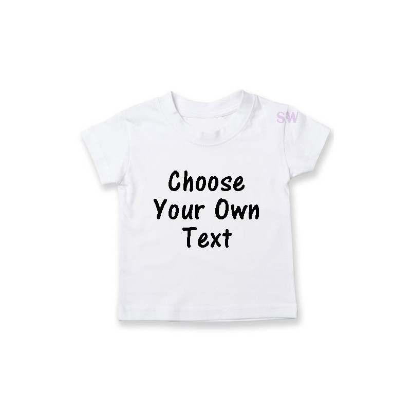 Personalised kids t shirt with custom text options and colours for Photo t shirts with text