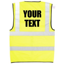 Personalised Text Hi Vis Vest