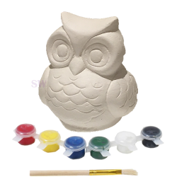 Paint Your Own Owl Money Box